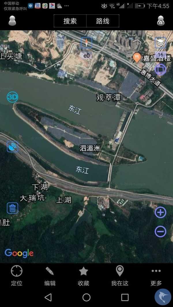惠州博罗东江段这个位置是否可以路亚钓鱼?